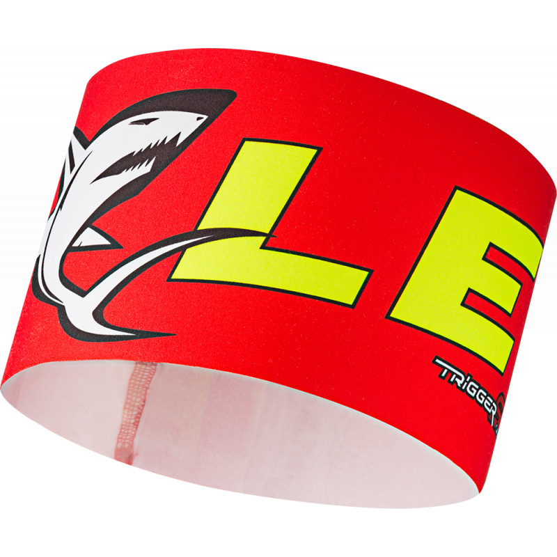 Leki RACE shark headband, red-yel
