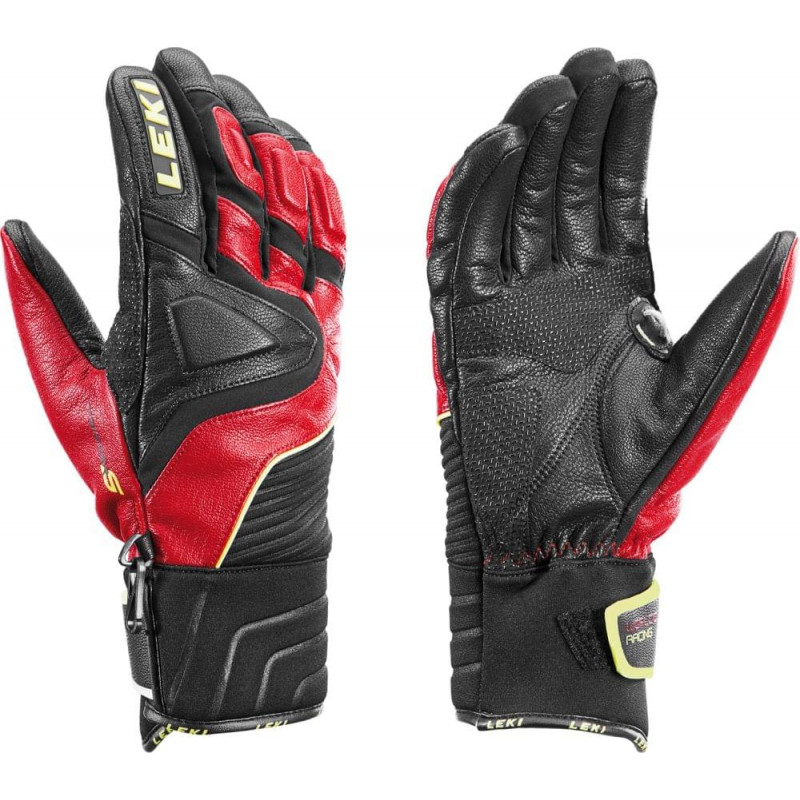 Leki Race Slide S black-red-yellow