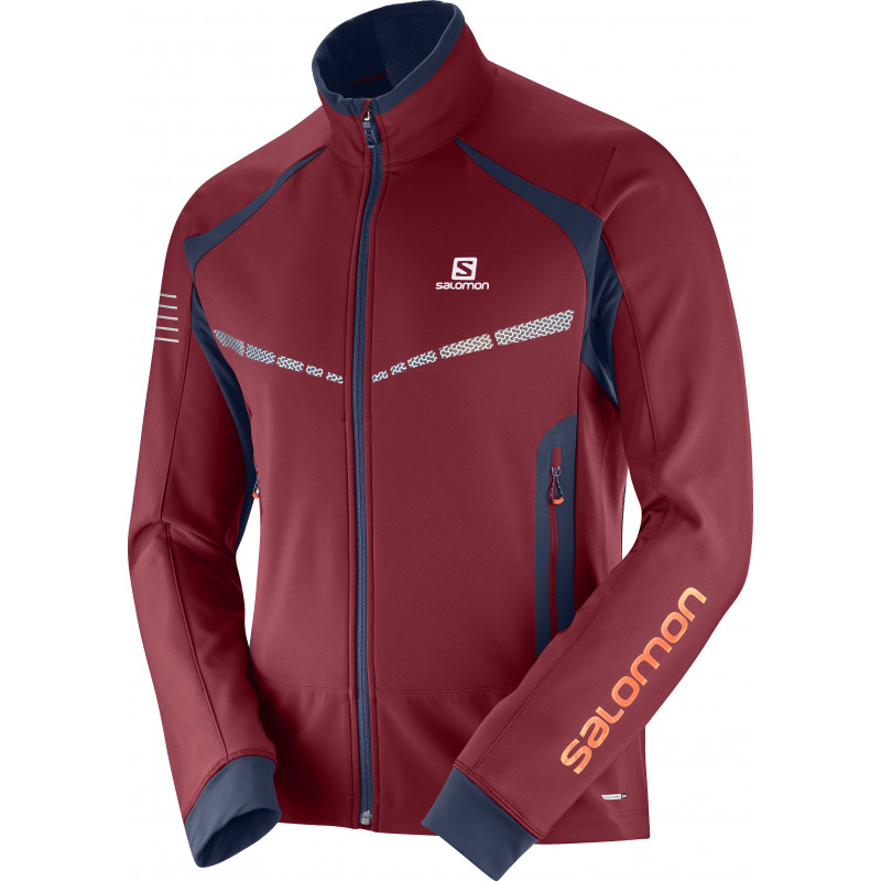 Salomon RS WARM SOFTSHELL JKT M BIKING RE/NIGHT